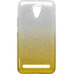 Ochranné puzdro / obal s trblietkami Lenovo Vibe C2, žlté