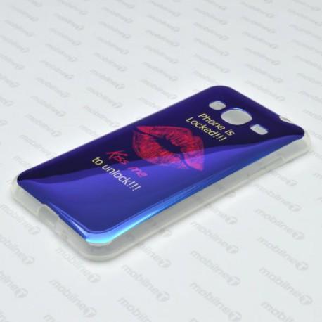 Vzorované gumené puzdro / obal Samsung Galaxy J3 2016, Kiss
