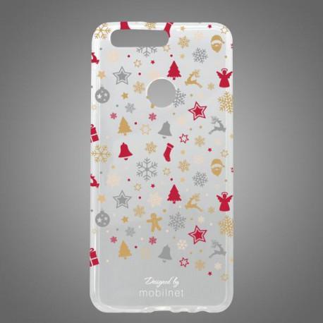 Vzorované gumové puzdro / obal Huawei Honor 8, vianočný motív