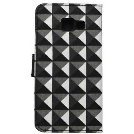 Vzorované bočné knižkové puzdro Samsung Galaxy A3 2016, trojuholník