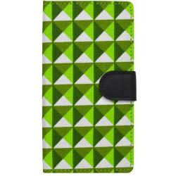 Knižkové puzdro Huawei Y5 II, bočné, vzorované, trojuholník, zelené