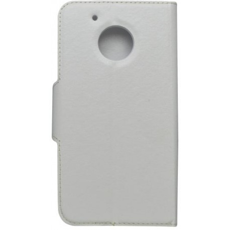 Bočný knižkový obal Moto G5, biely