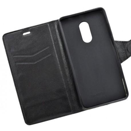 Bočné knižkové puzdro Xiaomi RedMi Note 4, čierne