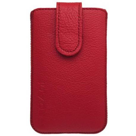 Kožená vsuvka Samsung Galaxy S5 mini, červená