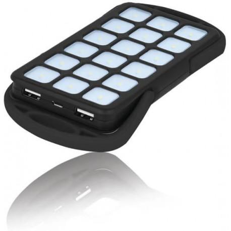 18 LED power bank 6000 mAh TB-018 black