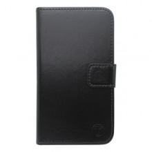 Bočné knižkové puzdro iPhone 4, čierne