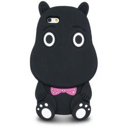 3D Zvieracie Hippo puzdro pre Hua Y6 II Compact čierne