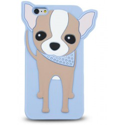 3D Zvieracie Case Doggy pre Hua Y6 II Compact modrí