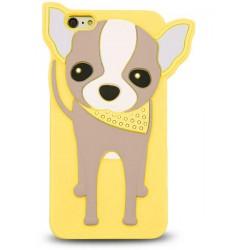 3D Zvierací Case Doggy Compact žlté Hua Y6 II