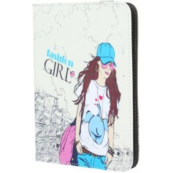 Universal case Fashion Girl for tablet 7-8``