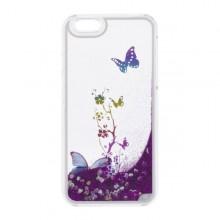 Plastové puzdro iPhone 6, lavínový efekt, motýle, tmavoružové
