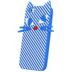 Silicon 3D puzdro pre Hua Kitten Lite modré P9