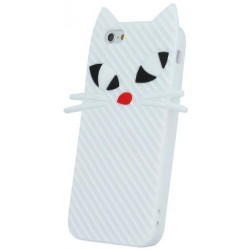 3D puzdro Silicon Kitten na biele Hua Y5 II