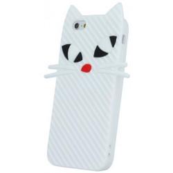 Kitten 3D Silicon púzdro pre iPhone 5 / 5S White