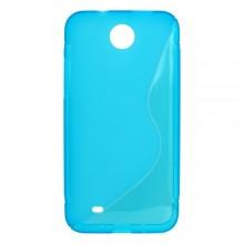 Gumené puzdro HTC Desire 300, modré