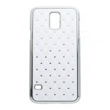 Plastové puzdro Samsung Galaxy S5 biele kamienkové