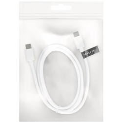 Type-C/type-C USB 2.0 cable white Forever bulk