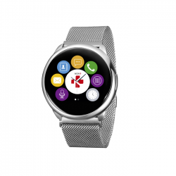 MyKronoz Smartwatch Pr ZeRound silver/black