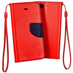 Flexi color book púzdro na Huawei Honor V9, Honor 8 Pro - červené - tmavo modré