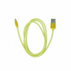metal USB kábel na Micro USB - zlatý - 1 m