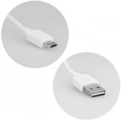 obojstraný dátový USB kábel s MicroUSB konektorom - biely - 1,0 m
