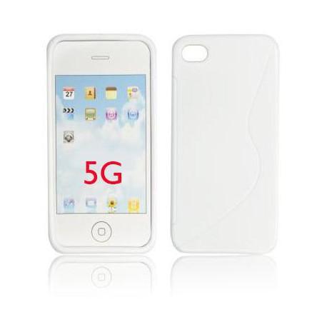 silikónové púzdro na Apple iPhone 5 - biele 00b6c9bb25c