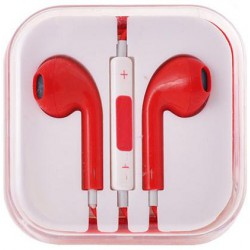 stereo HF štuplíkový, s ovládaním hlasu s 3.5 jack - červený