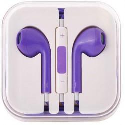 stereo HF štuplíkový, s ovládaním hlasu s 3.5 jack - fialový