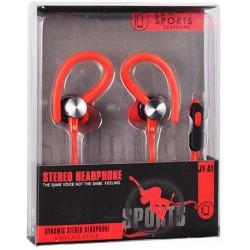 stereo HF štuplíkový, s ovládaním hlasu s 3.5 jack, Sport JY-A1 červený