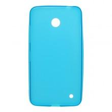 Gumené puzdro Slim Nokia Lumia 635, svetlomodré