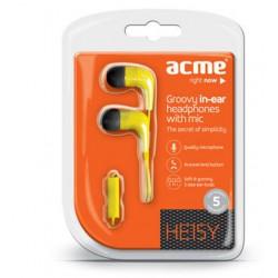 ACME HE15Y Groovy do uší slúchadlá s mikrofónom