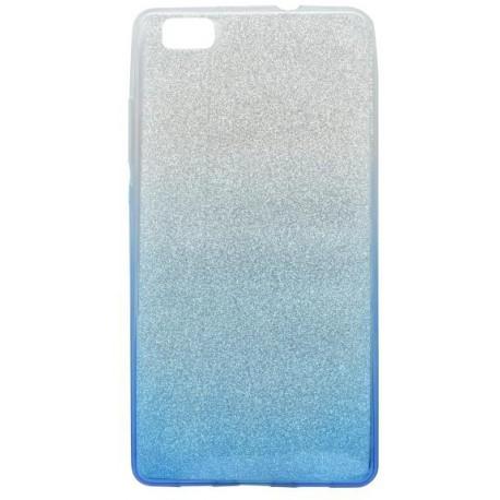 Farebné trblietavé puzdro Huawei P8 Lite, modré