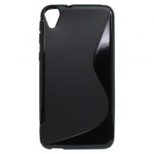 Gumené puzdro S-line HTC Desire 820, čierne