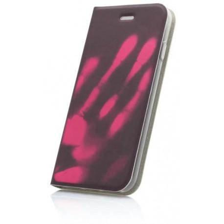 Termochromické knižkové puzdro Samsung Galaxy A3 2017, ružové