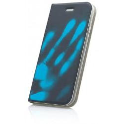 Termochromické knižkové puzdro Huawei P10 Lite, modré