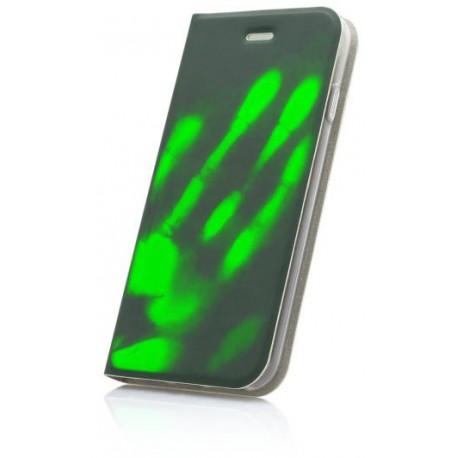 Termochromické knižkové puzdro Huawei P10, zelené