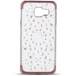 3D Stars TPU case for Sam J3 2017 J327 rose gold