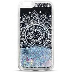 Liquid Glitter TPU Mandala black Case for Lenovo K6 Note