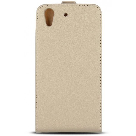 Leather case PLUS New Hua P10 Lite gold