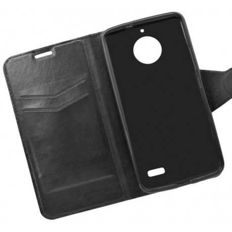 Bočné knižkové puzdro Moto E4 čierne