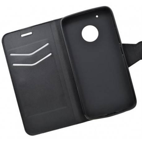 Bočné knižkové puzdro Moto G5 Plus čierne