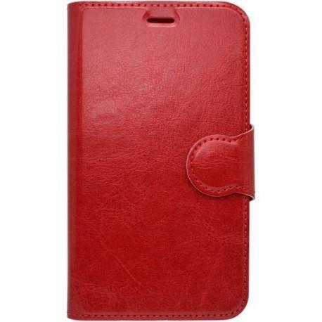 Bočné knižkové puzdro Moto E4 Plus červené