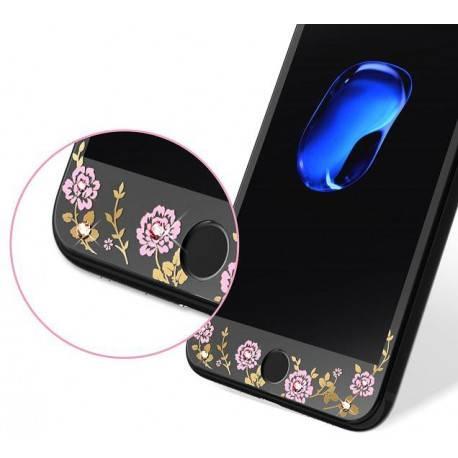 KAUARO Tempered Glass iPhone 7 Flora black