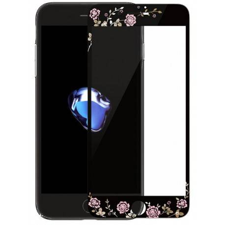 KAUARO Tempered Glass iPhone 7 Flora black