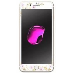 KAUARO Tempered Glass iPhone 7 Flora white