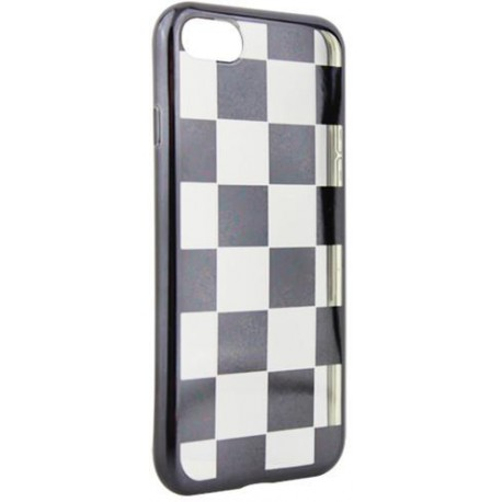 Electroplate chess case for Hua P10 Lite black