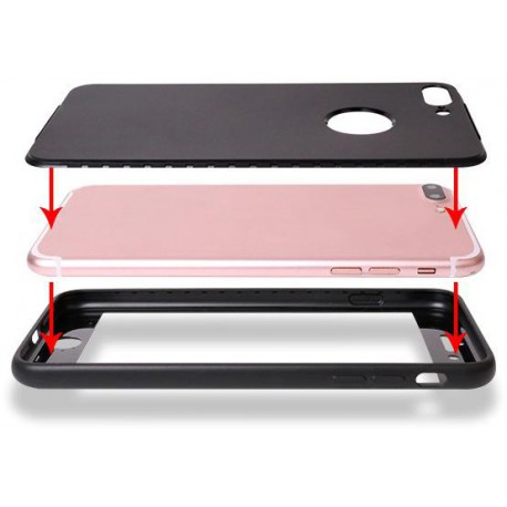Full Cover Mat for Iphone 7 Plus black
