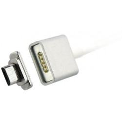 magnet USB kábel na Micro USB - biely - 1 m