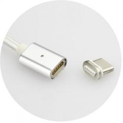 magnet USB kábel na TYPE C - USB 3.0 - biely - 1 m