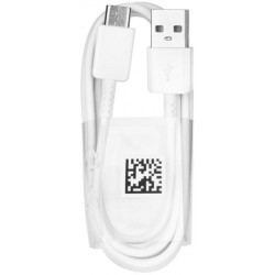 Original USB Cable - Samsung EP-DW700CBE 1,5 m, micro USB type C, biely, bulk